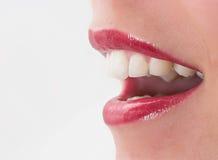 красный цвет губной помады Стоковое Изображение