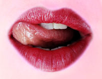 красный цвет губной помады Стоковое фото RF