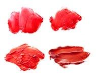 Красный цвет губной помады на белой предпосылке Стоковая Фотография RF