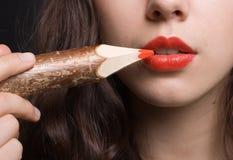 красный цвет губы Стоковое Фото