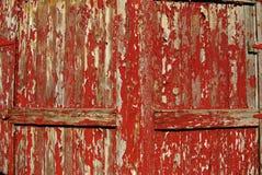 красный цвет дверей старый Стоковое фото RF