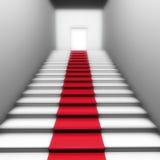 красный цвет двери ковра Стоковое Изображение