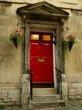 красный цвет двери передний Стоковые Изображения