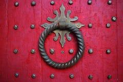 красный цвет двери Стоковое Изображение