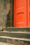 красный цвет двери Стоковое Изображение RF