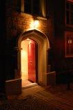красный цвет двери Стоковое Фото