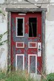 красный цвет двери Стоковые Фотографии RF