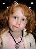 красный цвет девушки с волосами Стоковое Изображение RF