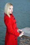 красный цвет девушки Стоковые Фотографии RF