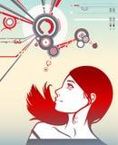 красный цвет девушки Стоковое Изображение