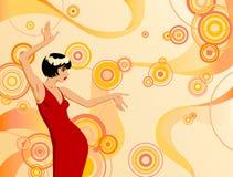 красный цвет девушки Стоковое Фото