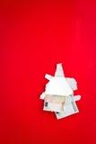 красный цвет дег евро предпосылки Стоковая Фотография