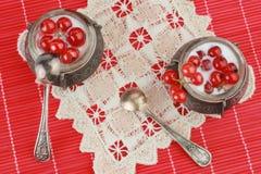 красный цвет десерта смородины Стоковая Фотография RF