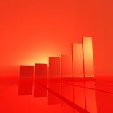 красный цвет диаграммы в виде вертикальных полос Стоковое Изображение RF