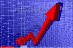 красный цвет диаграммы стрелки Стоковая Фотография RF