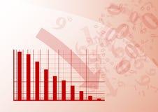 красный цвет диаграммы Стоковые Фотографии RF