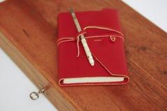 красный цвет дневника книги стоковое фото rf