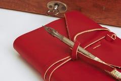 красный цвет дневника книги стоковая фотография rf