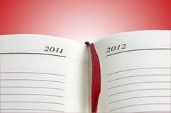 красный цвет дневника стоковые фотографии rf