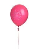 красный цвет дня рождения ballon счастливый Стоковое Изображение RF
