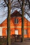 красный цвет дома кирпича Стоковая Фотография