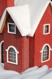 красный цвет дома миниый стоковая фотография