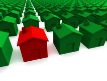 красный цвет дома Стоковая Фотография RF