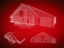 красный цвет дома Стоковое Изображение