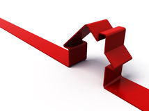 красный цвет дома Стоковое Изображение RF