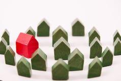 красный цвет дома Стоковые Изображения