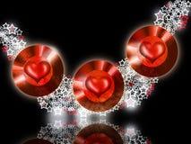 красный цвет драгоценности сердец горячий Стоковое Фото