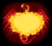 красный цвет дракона иллюстрация штока