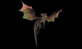 красный цвет дракона Стоковое Фото