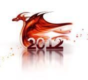 красный цвет дракона Стоковые Фотографии RF