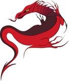 красный цвет дракона Стоковое фото RF