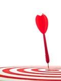 красный цвет дротика Стоковая Фотография