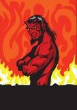 красный цвет дьявола Стоковое Изображение