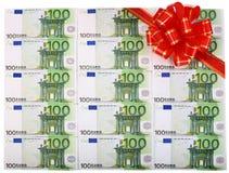 красный цвет евро смычка предпосылки Стоковое Фото
