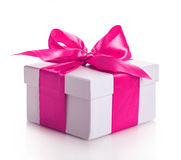 Красный цвет ленты подарочной коробки Стоковое Изображение RF