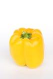 Красный цвет желтого зеленого цвета сладостного перца на белизне стоковое изображение