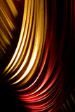 Красный цвет & желтый цвет задрапировывают или занавесы на этапе Стоковая Фотография