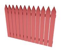 красный цвет загородки иллюстрация вектора