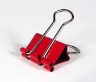 красный цвет зажима Стоковое Фото