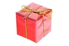 красный цвет закрытых подарков коробки новый вверх по году Стоковые Изображения