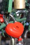 красный цвет замка сердца Стоковое Изображение RF