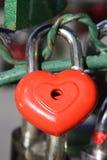 красный цвет замка сердца Стоковые Изображения RF