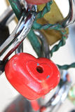 красный цвет замка сердца Стоковые Фото