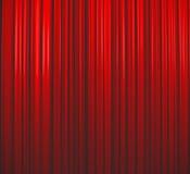 красный цвет занавеса глубоко - Стоковые Изображения