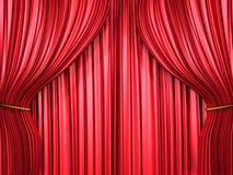красный цвет занавеса состава Стоковые Фото