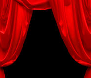 красный цвет занавеса Стоковые Изображения RF